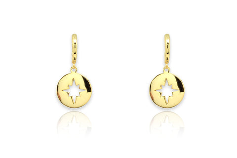 Lamba Gold Compass Earrings