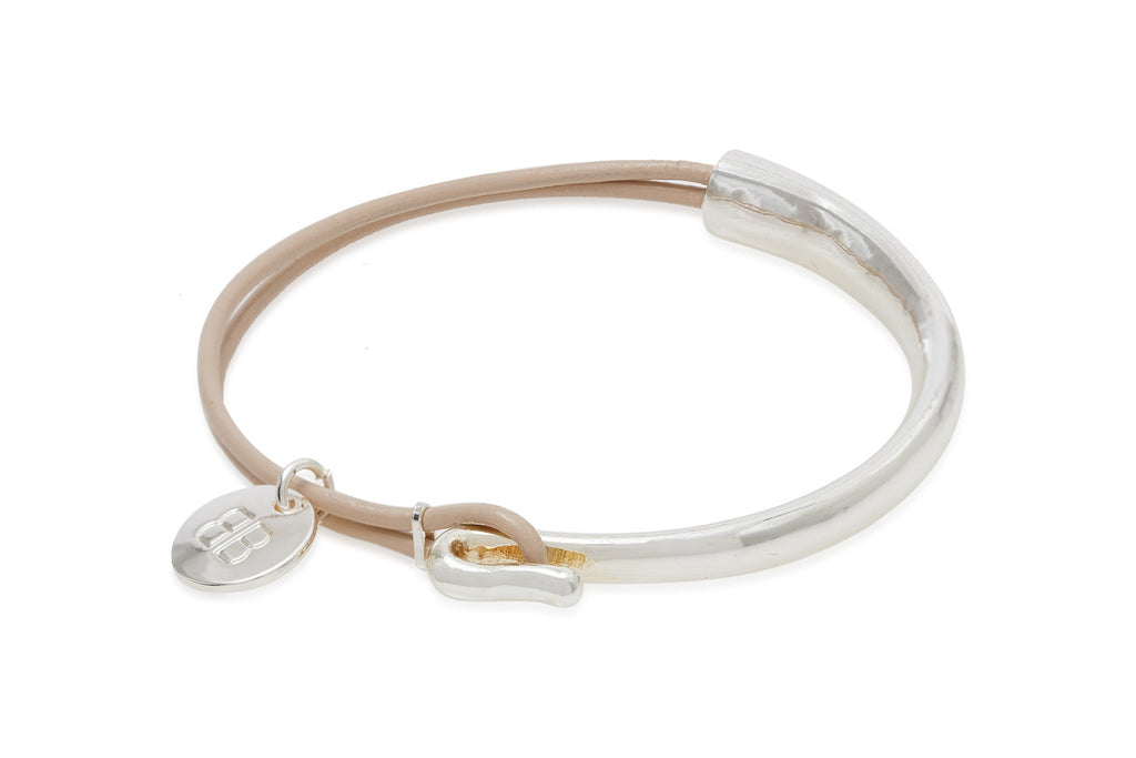 Lauter Taupe Leather Bangle