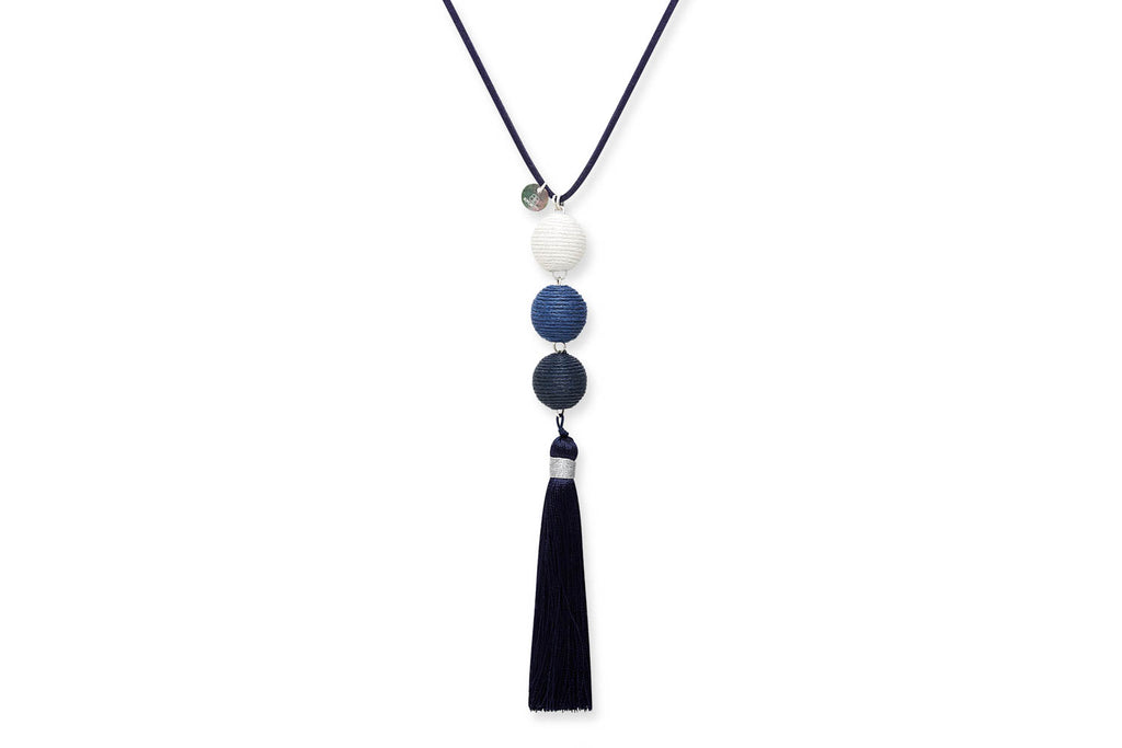 Asherah Blue Tassel Necklace. Images   1   2 ... 500fc8c253a3