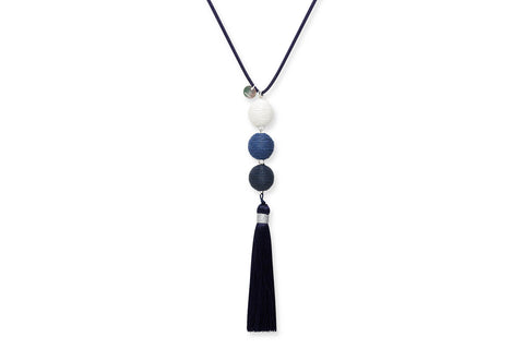 Asherah Blue Tassel Necklace