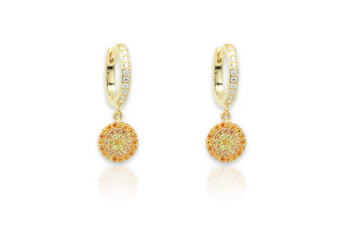 Lovell Amber Gold Drop Earrings