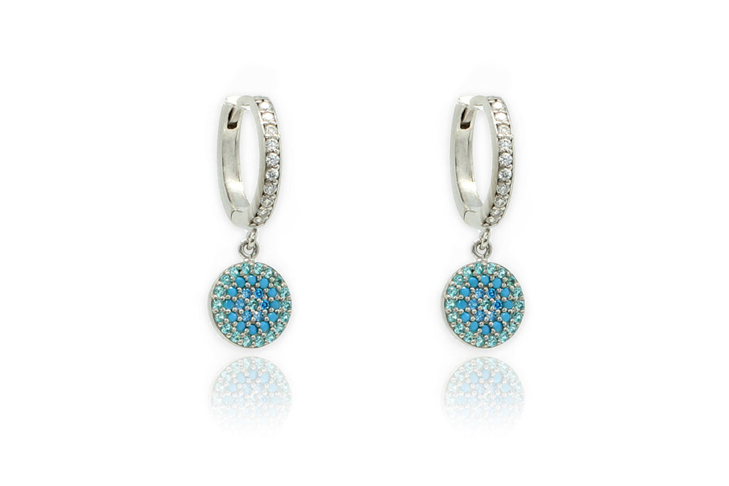 Lovell Mint Silver CZ Drop Earrings - Boho Betty