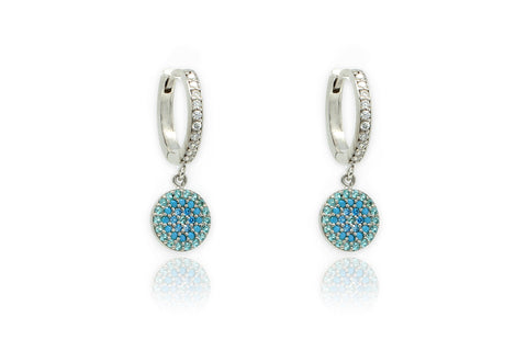 Lovell Mint Silver Drop Earrings