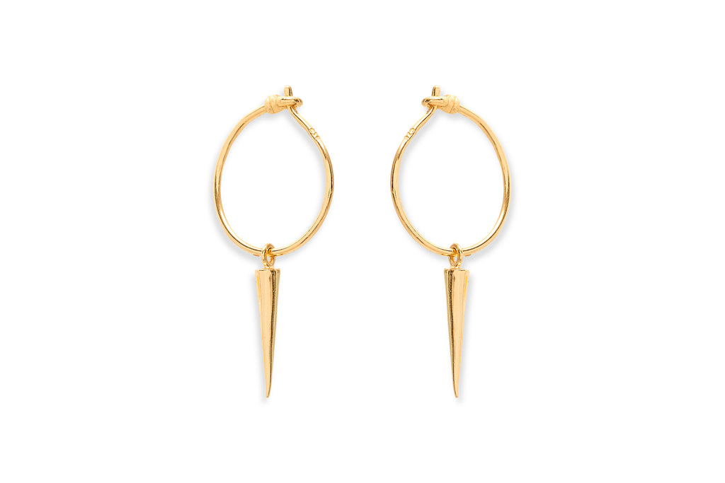 Madison Gold on Sterling Silver Spear Earrings