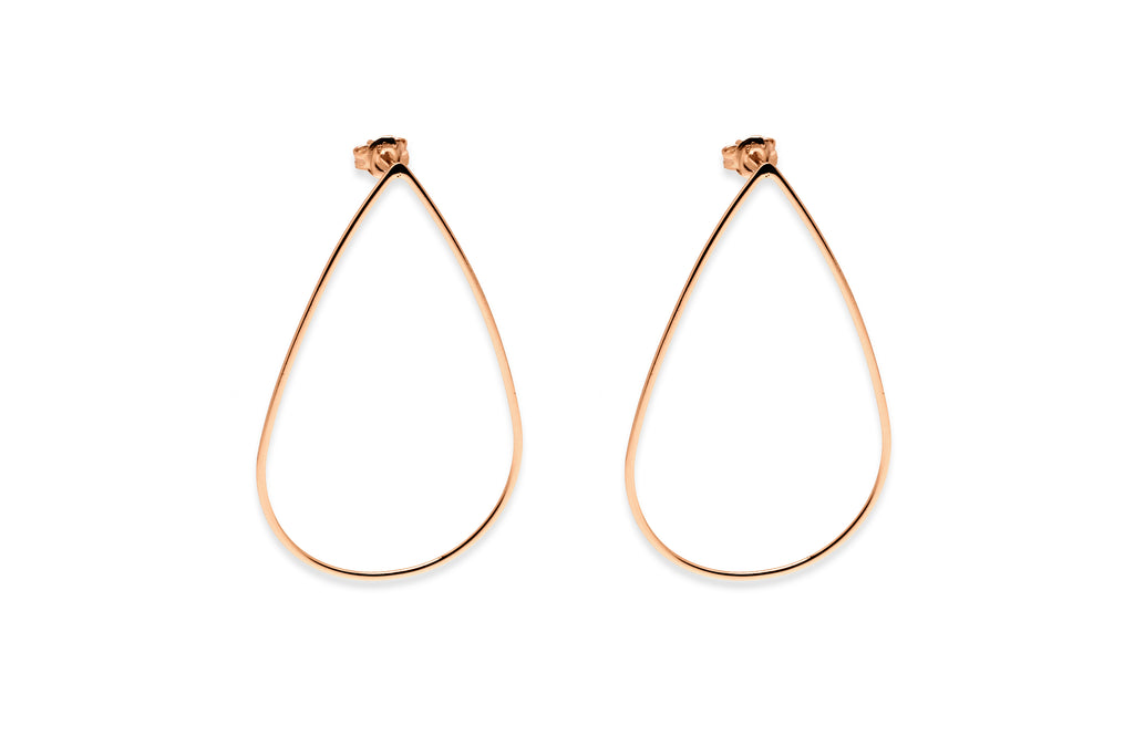 Mannhein Rose Gold Teardrop Earrings