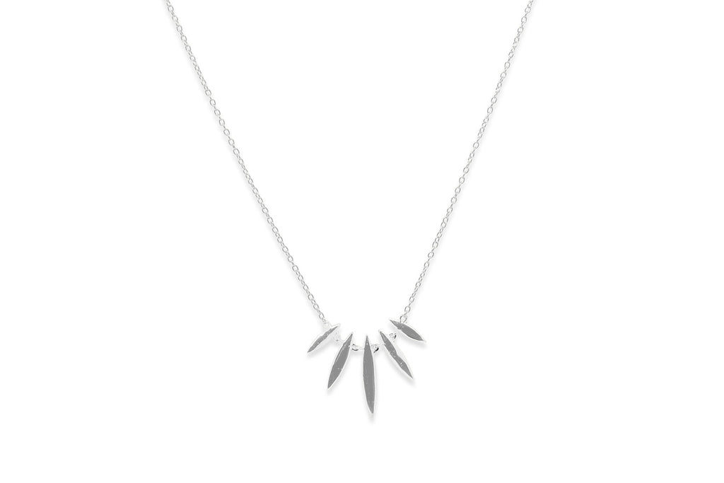 Margarita Silver Multi Spear Necklace