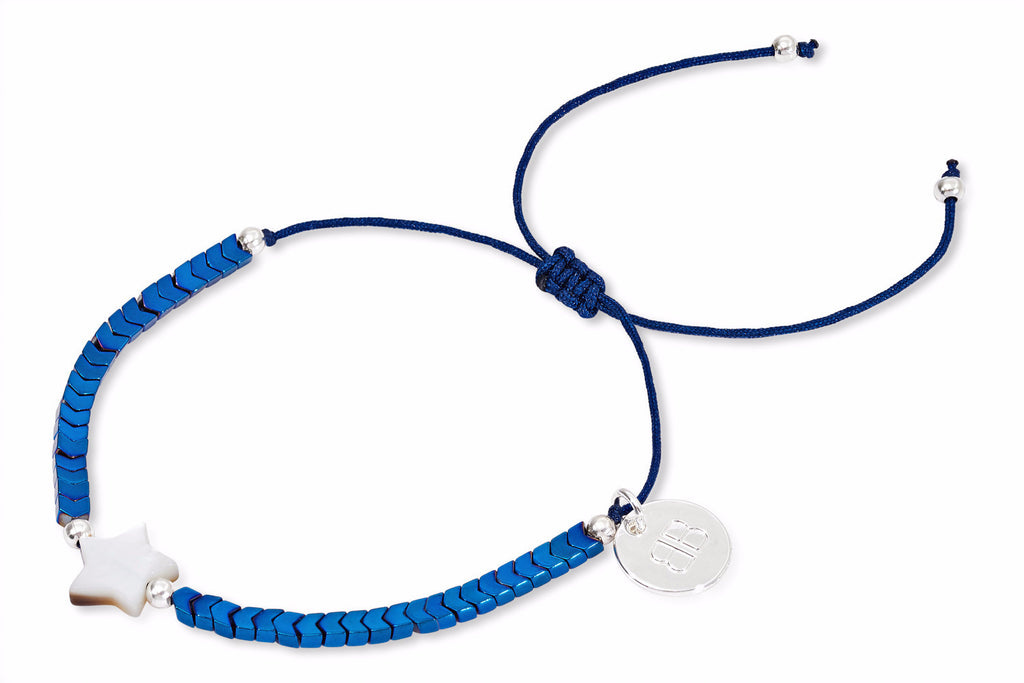 Merga Blue & Silver Star Friendship Bracelet