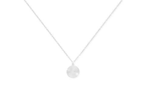 Merlot Sterling Silver Necklace with Disc Pendant