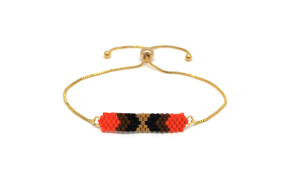 Moonwalk Orange Beaded Bracelet
