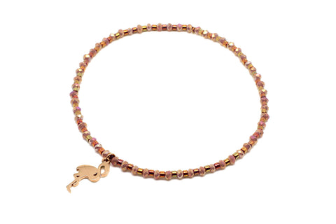 Lavolta Rose Gold Stretch Bracelet