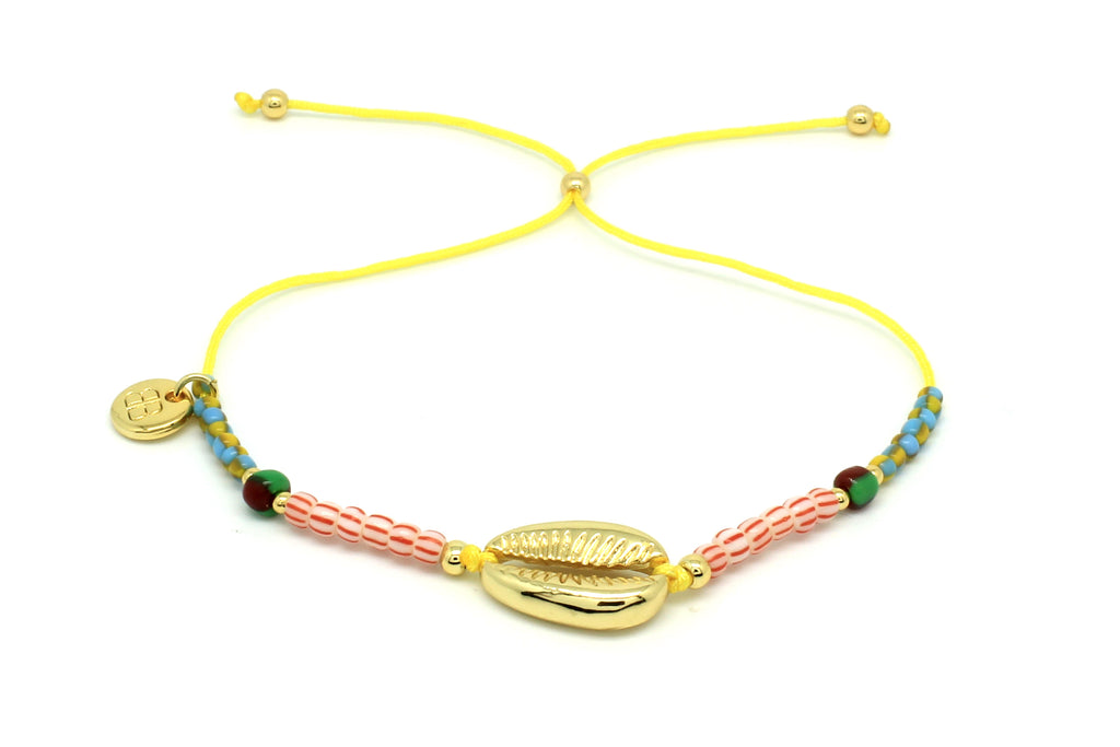 Amelan Multicolour Beaded & Shell Charm Bracelet