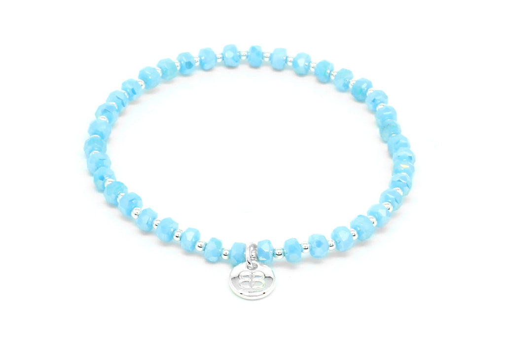 Prunus Blue Crystal Stretch Bracelet