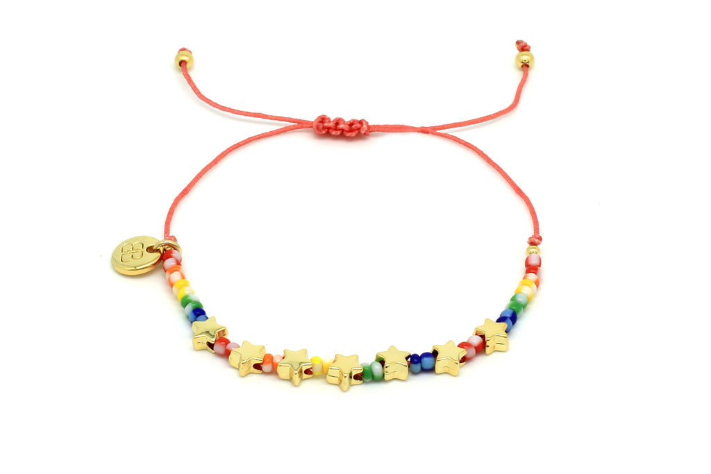 Angel Stars Multicoloured Friendship Bracelet - Boho Betty