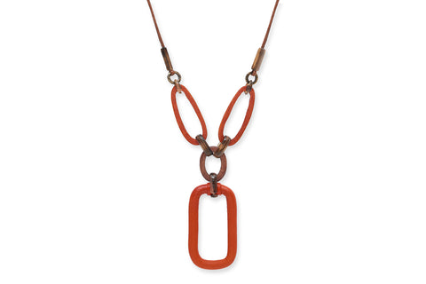 Nyx Leather and Wood Necklace