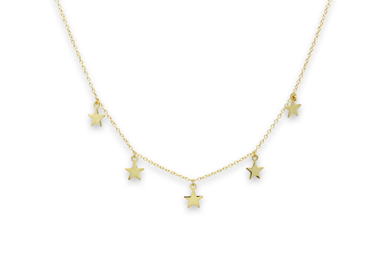 Asti Gold Star Charm Necklace - Boho Betty