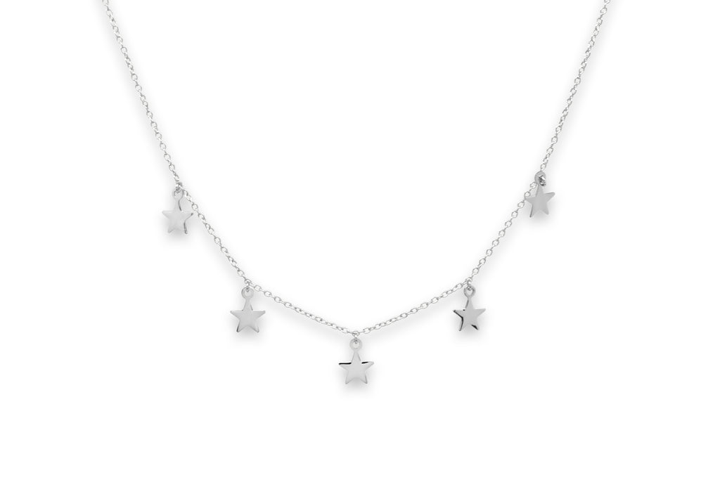 Asti Silver Star Charm Necklace - Boho Betty