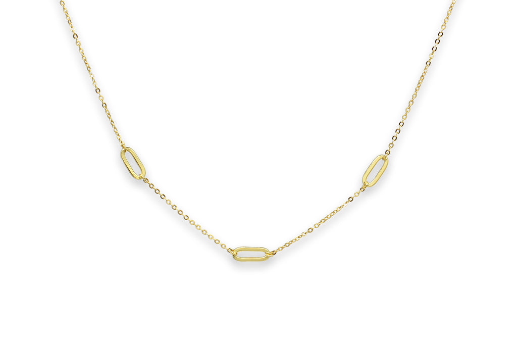 Midori Gold Oval Link Necklace - Boho Betty