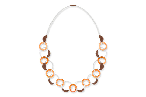 Elli Orange Shell Necklace