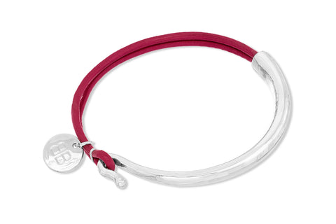 Ognon Plum Leather Bangle