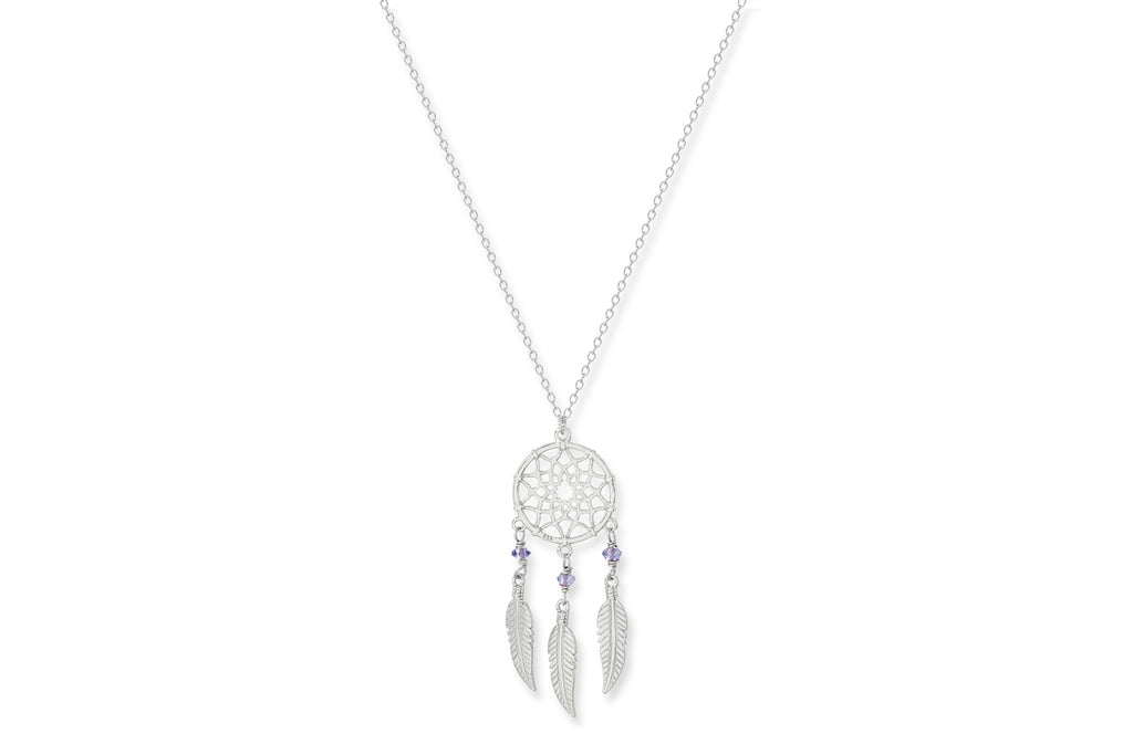 Pessae Sterling Silver Dreamcatcher Necklace