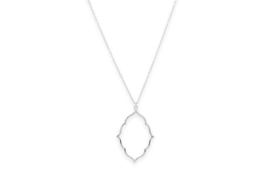 Punch Silver Oval Necklace