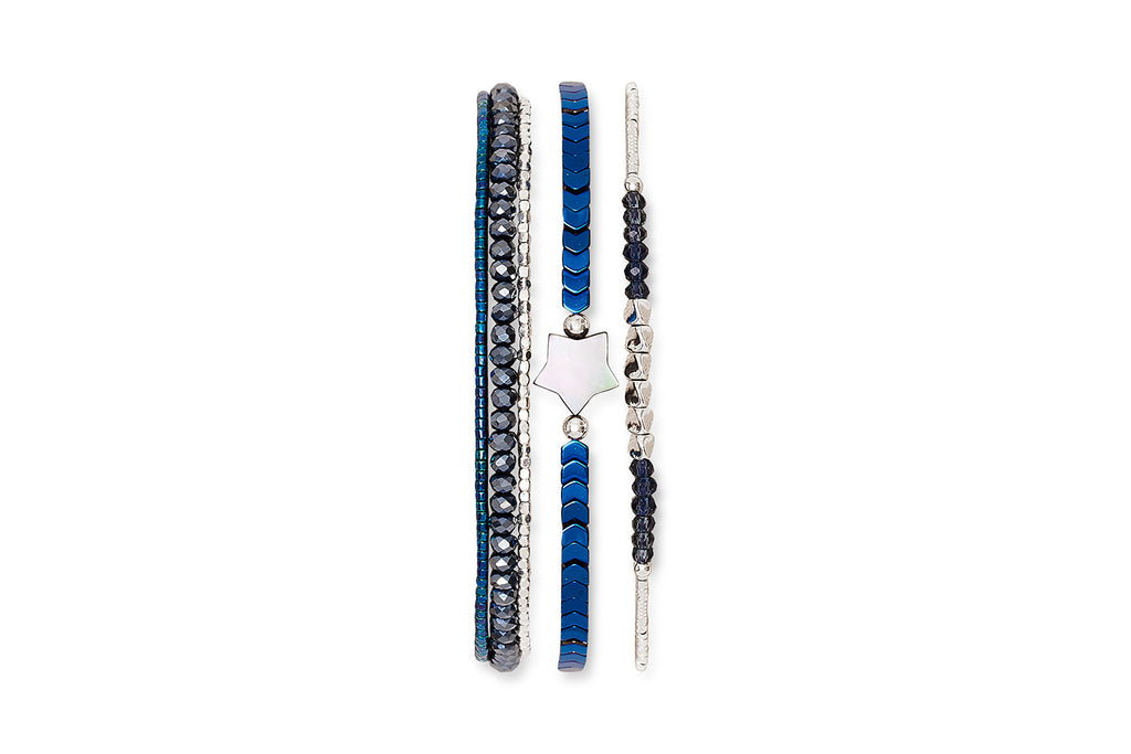 Pyramid Lake 3 Layered Bracelet Stack