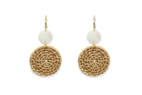 Quadrille Woven Earrings