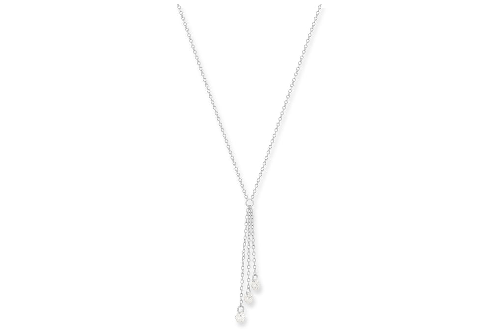 Tempranillo 3 Strand Silver Chain Necklace - Boho Betty