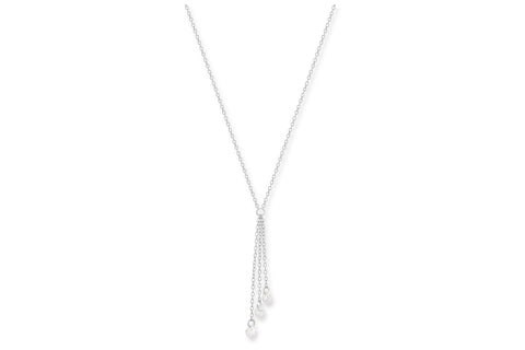 Tempranillo 3 Strand Silver Chain Necklace