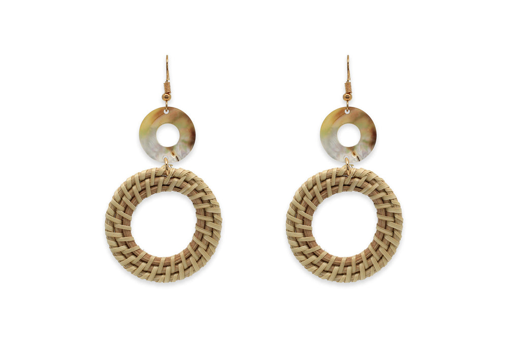 Redowa Gold Woven Earrings