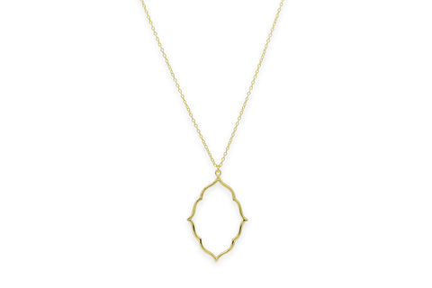 Reviver Gold Oval Necklace