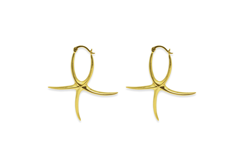 Robson Gold Starfish Earrings