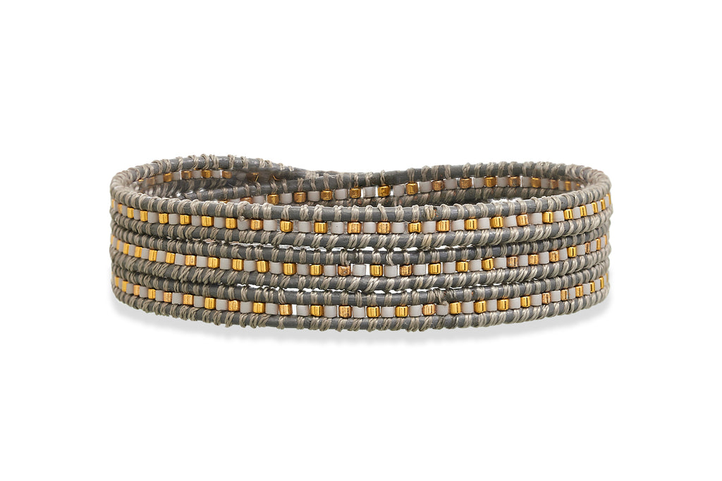 Ruth Young Grey 3 Wrap Bracelet