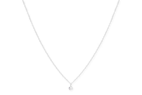 Sangiovese Sterling Silver Crystal Necklace