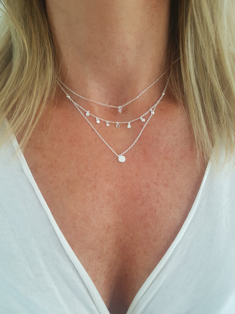 Riesling Silver Bar Layered Necklace