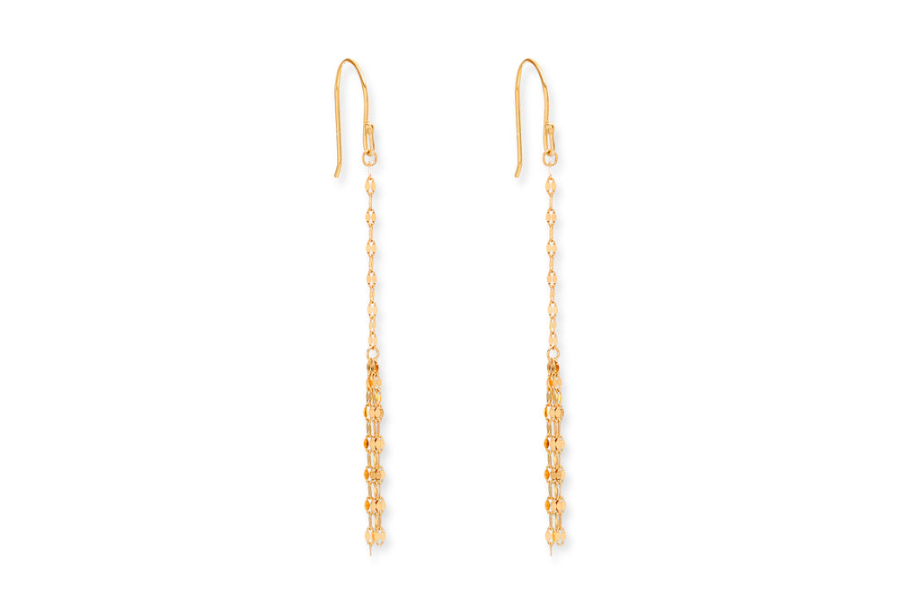 Scodelario Gold Chain Drop Earrings