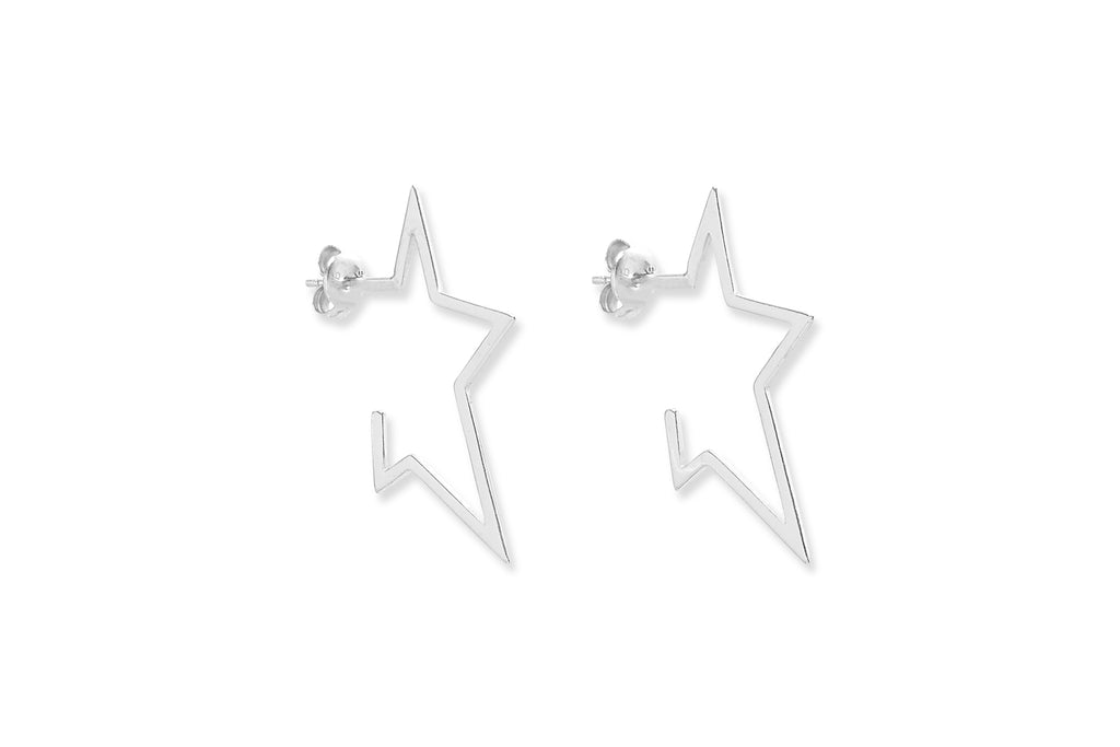 Seydoux Silver Star Stud Earrings