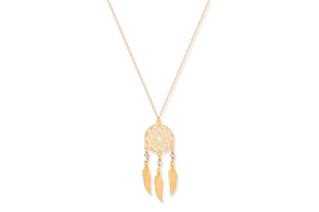 Sherry Gold on Sterling Silver Dreamcatcher Necklace