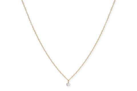 Shiraz Gold on Sterling Silver Crystal Necklace