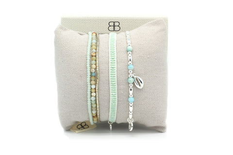 Rainier Mint 3 Layer Bracelet Stack