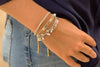 Calgary Silver 3 Layered Bracelet Stack - Boho Betty