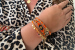 Tombak Multi Star Orange Bracelet - Boho Betty