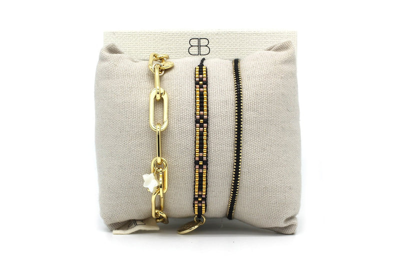 Geneva 3 Layered Bracelet Stack - Boho Betty