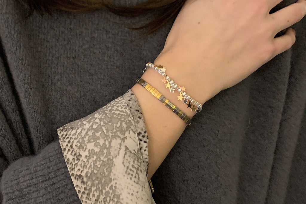 Kyoto 2 Layered Bracelet Stack - Boho Betty