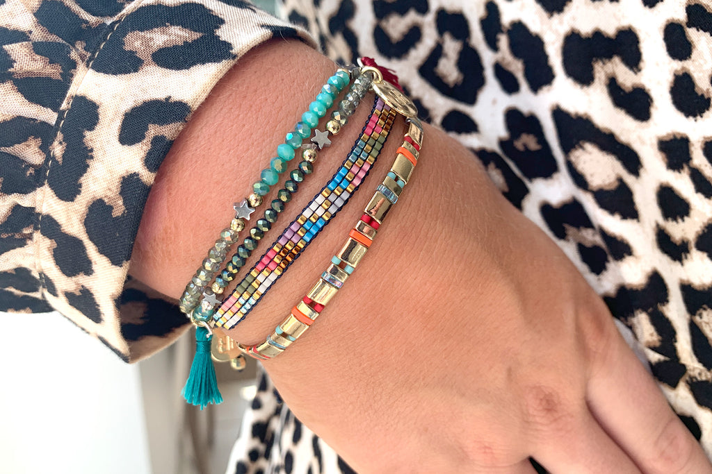 Melbourne Multicolour 3 Layered Bracelet Stack