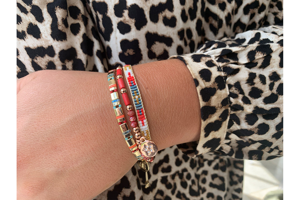 Montreal Multicolour 3 Layered Bracelet Stack