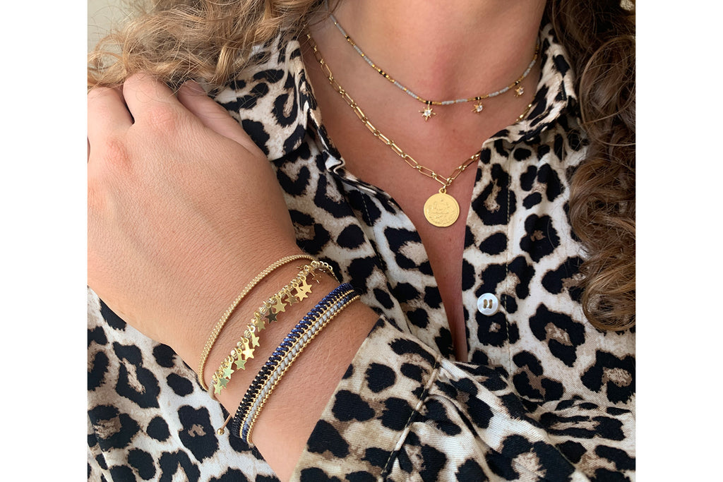 Riyadh Gold 3 Layered Bracelet Stack - Boho Betty