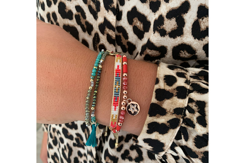 Vienna Multicolour 3 Layered Bracelet Stack - Boho Betty