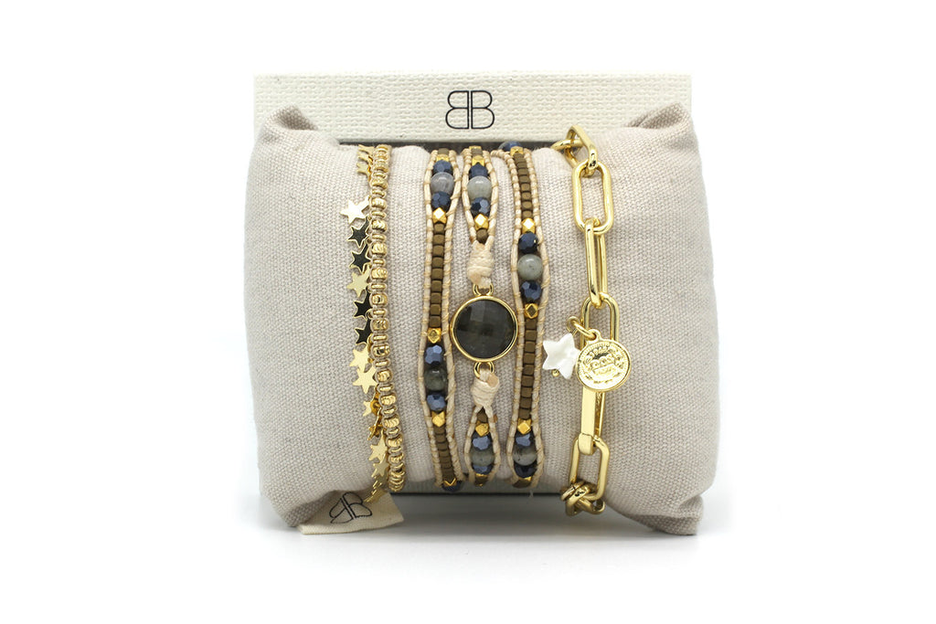 Key West 3 Layered Bracelet Stack - Boho Betty