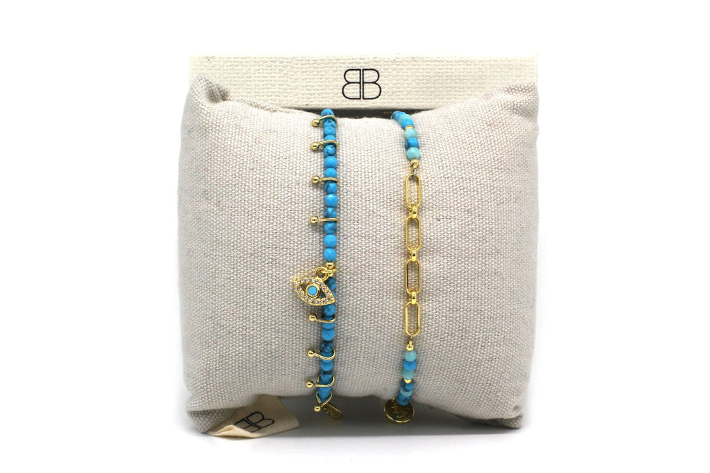 Okinawa 2 Layered Bracelet Stack - Boho Betty